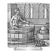 Archimedes And Hydrostatics Shower Curtain