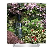 Arching Cherry Blossoms Shower Curtain