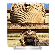 Architectural Detail . Large Urn With Lion Gargoyle  . Hearst Gym . Uc Berkeley . 7d10191 Shower Curtain