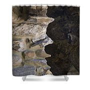 Architectural Detail Of Stone Work Shower Curtain