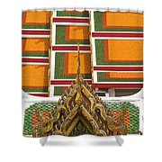 Architectural Detail Of Wat Pho Temple Shower Curtain