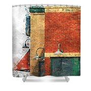 Arcitecture  Painted Effect Shower Curtain