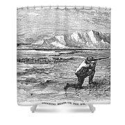 Arctic: Bear Hunting, 1871 Shower Curtain