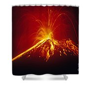 Arenal Volcano Erupting Shower Curtain