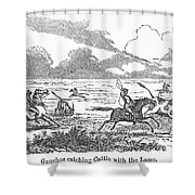 Argentina: Gauchos, 1853 Shower Curtain