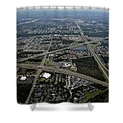 Ariel View Of Orlando Florida Shower Curtain