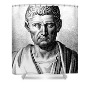 Aristotle, Ancient Greek Polymath Shower Curtain by Science Source