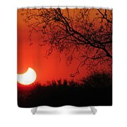 Arizona Eclipse At Sunset Shower Curtain