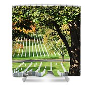 Arlington National Cemetery In The Fall  Shower Curtain