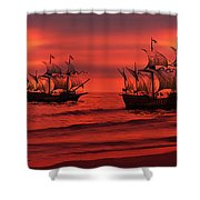 Armada Shower Curtain by Lourry Legarde