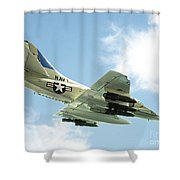 Armed And Dangerous Shower Curtain by Methune Hively