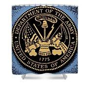 Army Medallion Shower Curtain