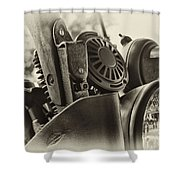 Army Motorcycle Shower Curtain