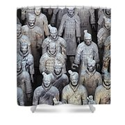Army Of Terracotta Warriors In Xian Shower Curtain