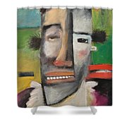 Arnold The Explorer Shower Curtain