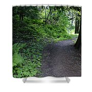 Around Another Bend In The Trail On Mt Spokane Shower Curtain