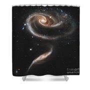 Arp 273 Interacting Galaxies Shower Curtain