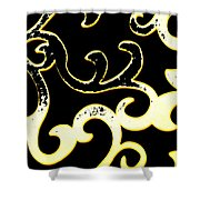 Art Deco Branchlets Shower Curtain
