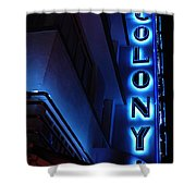 Colony Hotel Art Deco District Miami 2 Shower Curtain