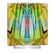 Art Deco Reredos Shower Curtain