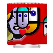 Art Lover Revisited Shower Curtain