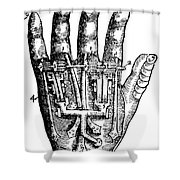 Artificial Hand Designed By Ambroise Shower Curtain