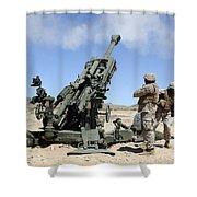 Artillerymen Fire-off A Round Shower Curtain