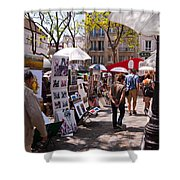 Artist Colony Of Montmartre Shower Curtain