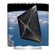 Artist Concept Of Nanosail-d In Space Shower Curtain