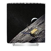 Artist Concept Of The Lunar Shower Curtain