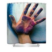 Artist Hand Shower Curtain