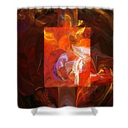 Artist World View Shower Curtain