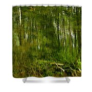 Artistic Water Reflections Shower Curtain