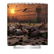 Artists Concept Of A Science Fiction Shower Curtain
