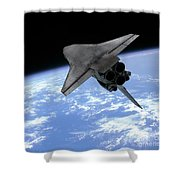 Artists Concept Of A Space Shuttle Shower Curtain
