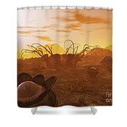 Artists Concept Of Animal And Plant Shower Curtain by Walter Myers