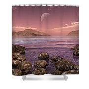 Artists Concept Of Archean Shower Curtain