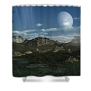 Artists Concept Of Mayan Like Ruins Shower Curtain