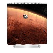 Artists Concept Of Nasas Mars Science Shower Curtain