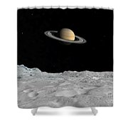 Artists Concept Of Saturn As Seen Shower Curtain
