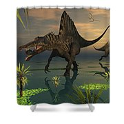 Artists Concept Of Spinosaurus Shower Curtain
