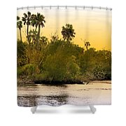 As Evening Ends Shower Curtain