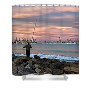 As He Caught His Dinner .... Shower Curtain