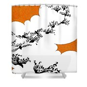 As The Crows Fly Shower Curtain