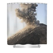 Ash Cloud From Vulcanian Eruption Shower Curtain by Richard Roscoe