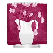 Ashes Of Roses Tulips Shower Curtain