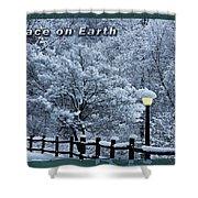 Asheville Peace Card Shower Curtain