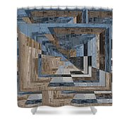 Aspiration Cubed 3 Shower Curtain