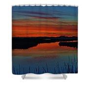 Assateague Bayside Sunset Shower Curtain