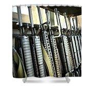 Assault Rifles Stand Ready Shower Curtain